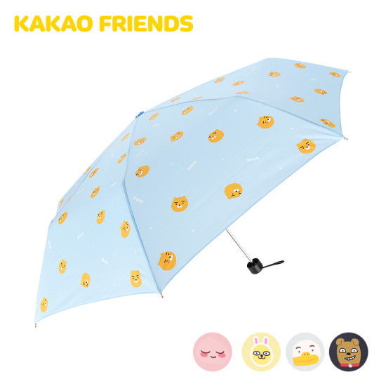 [카카오프렌즈] 페이스패턴 3단 우산 5종 택1 GUKTU30006