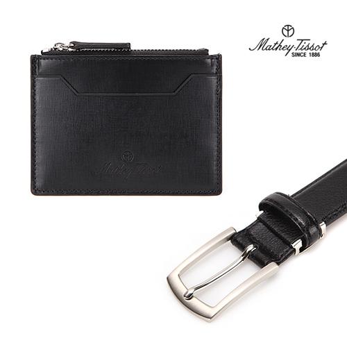 [회원 전용 상품] 메티티솟 지갑벨트 세트04 카드지갑+수동벨트 블랙 2종세트