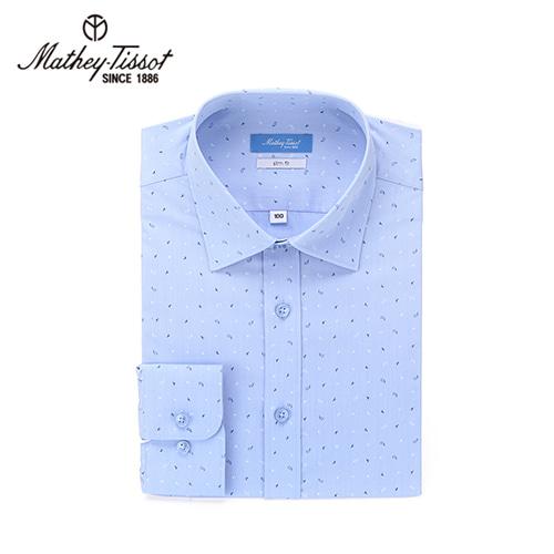 메티티솟 캐주얼 셔츠 모달 스판 페이즐리(블루)